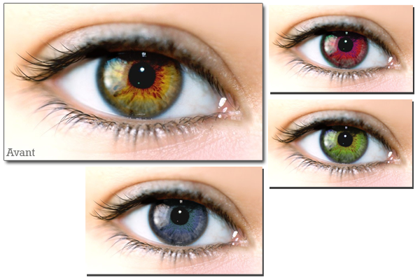 couleur des yeux