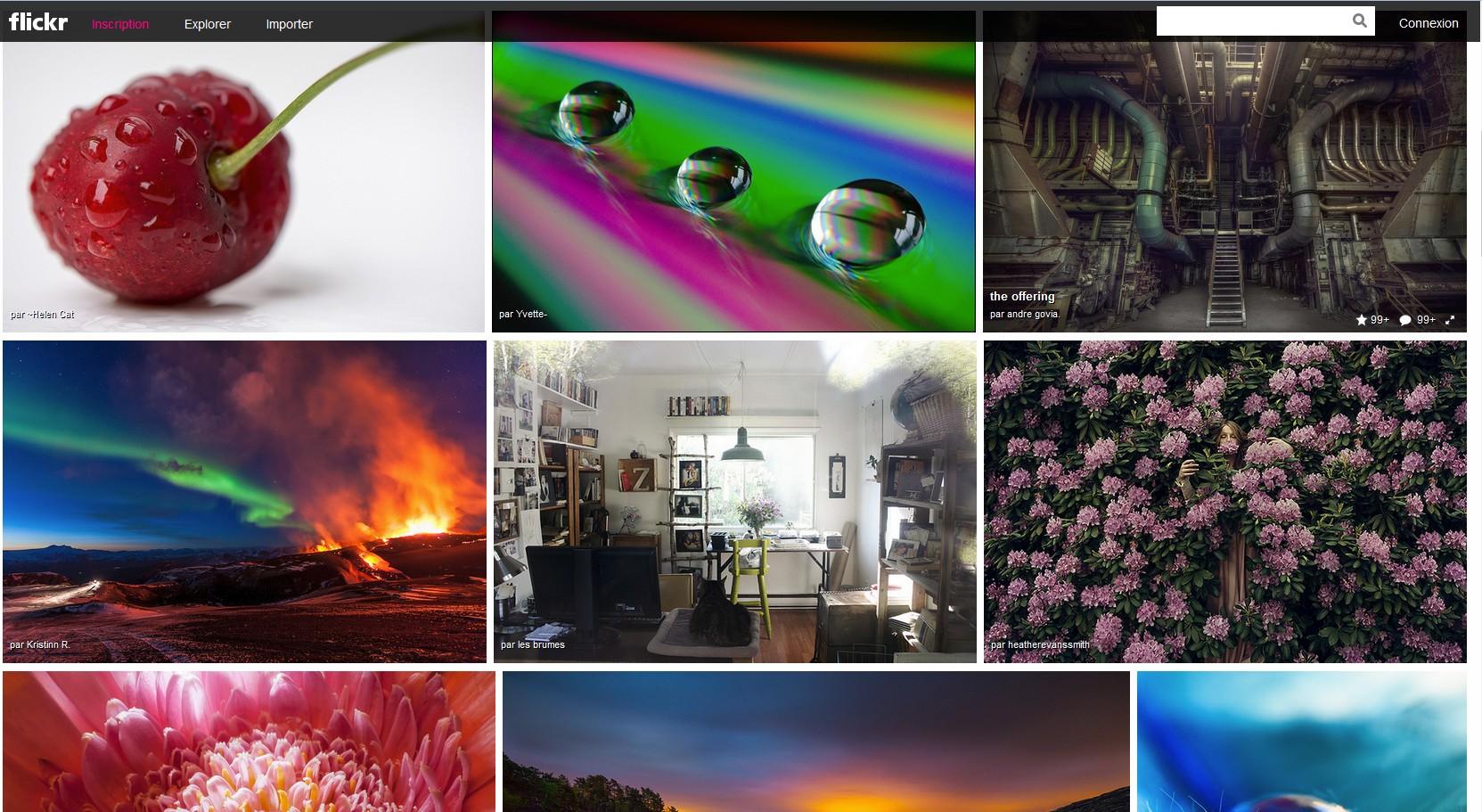 Flickr nouvelle interface