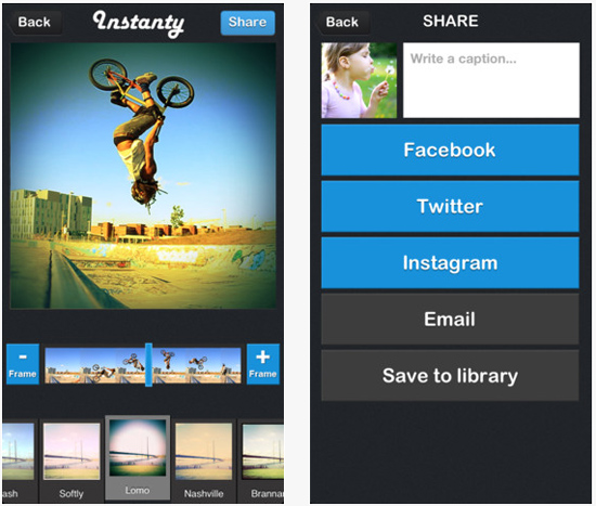 instanty application iphone
