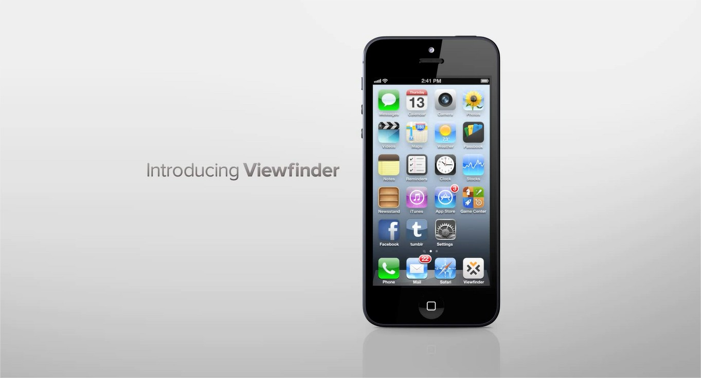 viewfinder appliaction photo iphone
