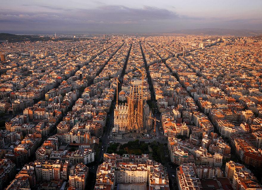 Le quartier de la Sagrada Familia (Barcelone) Photo : Amos Chapple